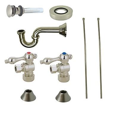 Kingston Brass Trimscape Traditional Plumbing Sink Trim Kit; Satin Nickel