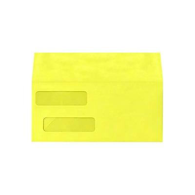 Lux Double Window Invoice Envelopes, 4 1/8 x 9 1/2, Citrus 250/Pack