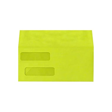 LUX Double Window Invoice Envelopes (4 1/8 x 9 1/8), Wasabi, 1000/Box (INVDW-L22-1000)