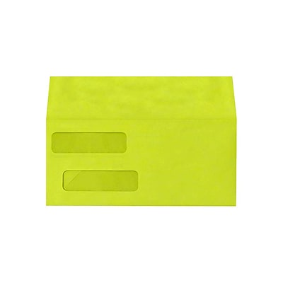 Lux Double Window Invoice Envelopes, Wasabi 4 1/8 x 9 1/2 inch 500/Pack