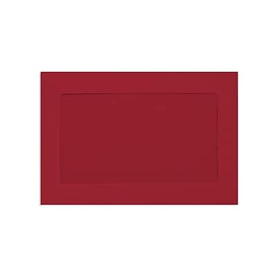 Lux Window Envelopes, Ruby Red 6 x 9 inch 50/Pack