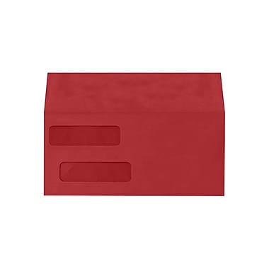 LUX Double Window Invoice Envelopes (4 1/8 x 9 1/8), Ruby Red, 500/Box (INVDW-18-500)