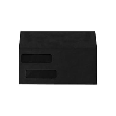 LUX Double Window Invoice Envelopes (4 1/8 x 9 1/8) 500/box, Midnight Black (INVDW-B-500)