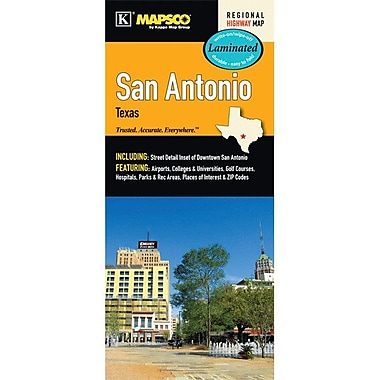 Universal Map San Antonio Laminated Map