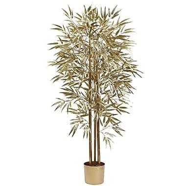 Nearly Natural 5395 Golden Bamboo Tree 5-Feet Golden