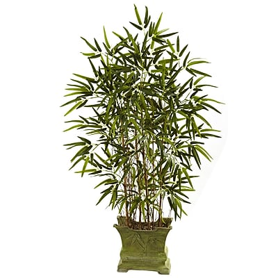 Nearly Natural 5419 Bamboo Tree with Decorative Planter 45-inch