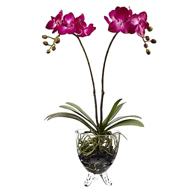 Nearly Natural 4831 Double Phalaenopsis Orchid Elegance Arrangement 19 x 11
