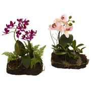 Nearly Natural 4835-S2 Orchid Island Floral Arrangement Purple & Pink