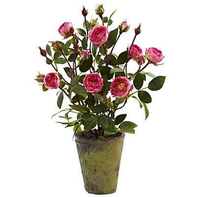 Nearly Natural 4853 French Rose Garden 14 x 9 inch Multi Color