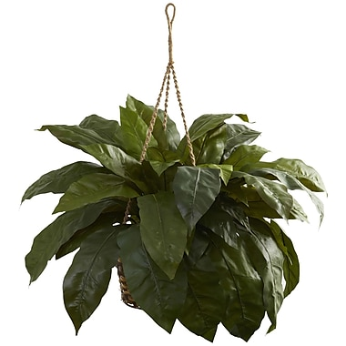 Nearly Natural Double Giant Birdsnest Hanging Basket (6787)