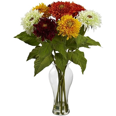 Nearly Natural 1360-AS Sunflower Arrangement, Assorted