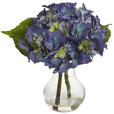 Nearly Natural 1370-BL Blooming Hydrangea Blue