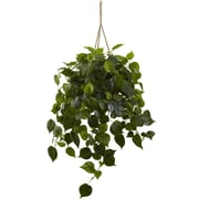 Nearly Natural 6853 Philodendron Hanging Basket 36 x 30 inch Green