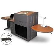 "Marvel® 133"" Steel Teacher's Desks With Lectern & Headset Mic"