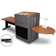 "Marvel® 78"" Steel Rectangular Tables With Lectern, Acrylic Doors & Handheld Mic"