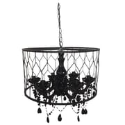 A&B Home Drum Chandelier; Black