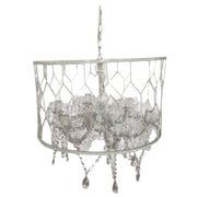 A&B Home Drum Chandelier; White