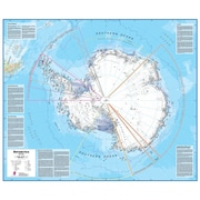 Waypoint Geographic Antarctica 1:7 Laminated Wall Map
