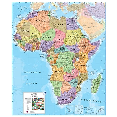 Waypoint Geographic Africa 1:8 Laminated Wall Map