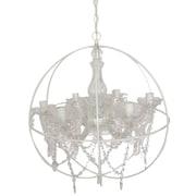 A&B Home 6-Light Globe Pendant; White