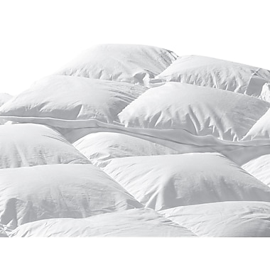 Highland Feathers – Couette standard super en duvet blanc, 289 fils, gonflement 625, très grand lit californien, 47 oz