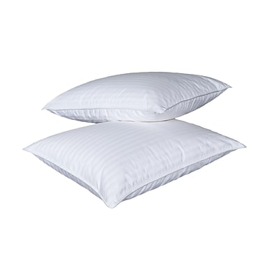 Highland Feathers Queen Size 320Tc 625 Loft Canadian White Goose Down Pillow, 20X30'', Medium Fill:20Oz