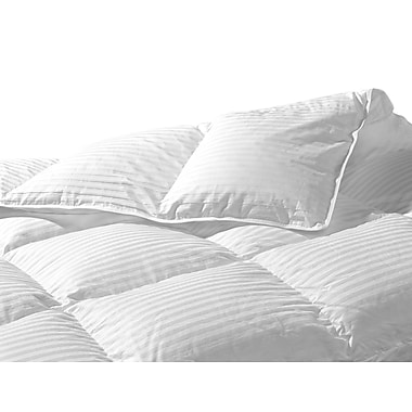 Highland Feathers Luxurious 500Tc Silk Damask Stripe 750 Loft Hungarian White Goose Down Duvet 64X88''s 14oz