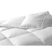 Highland Feathers 500Tc Swiss Dot 700 Loft Hungarian White Goose Down Pillow King Sizes 14oz