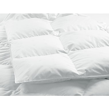 Highland Feathers 500Tc Silk Damask Stripe Double/Full Size 725 Loft Canadian Hutteritte White Goose Down Duvets