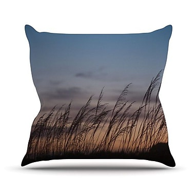 KESS InHouse Sunset on the Beach Outdoor Throw Pillow; 20'' H x 20'' W x 4'' D