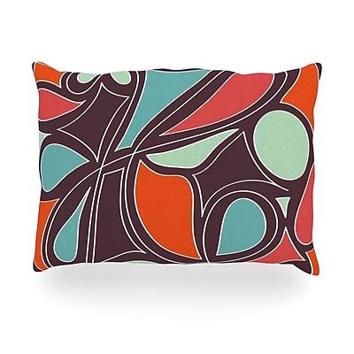 KESS InHouse Retro Swirl Outdoor Throw Pillow; 14'' H x 20'' W x 3'' D