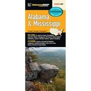 Universal Map Alabama/Mississippi Laminated Map