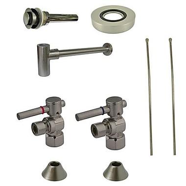 Kingston Brass Trimscape Contemporary Plumbing Sink Trim Kit; Satin Nickel