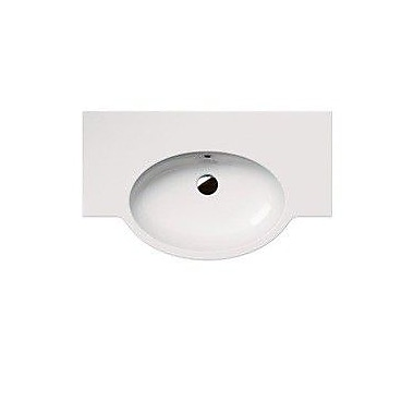 GSI Collection Panorama Ceramic 32'' Wall Mount Bathroom Sink w/ Overflow; No Hole