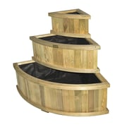 Rowlinson 3 ft x 3 ft Wood Raised Garden