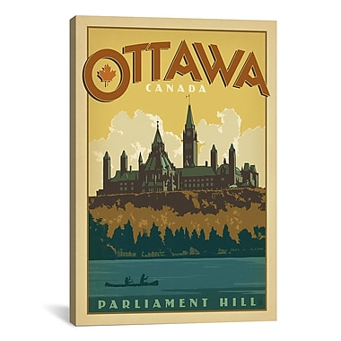 iCanvas Anderson Design Group 'Parliament Hill Ottawa, Canada' Vintage Advertisement on Canvas