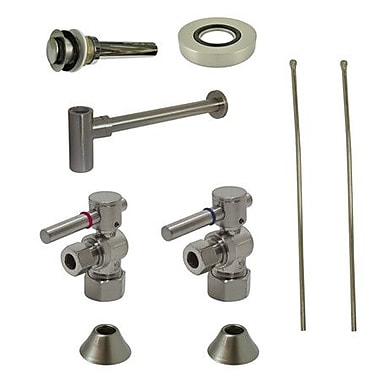 Kingston Brass Trimscape Contemporary Plumbing Sink Trim Kit; Satin Nickel