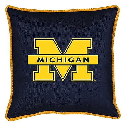 Sports Coverage NCAA Michigan Sidelines Throw Pillow