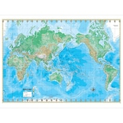 Universal Map Advanced Physical World Laminated Rolled Map