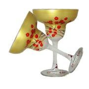 Golden Hill Studio Berries 'n Branches Margarita Glass (Set of 2)