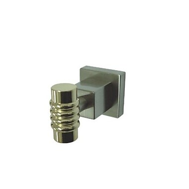Kingston Brass Fortress Wall Mount Robe Hook; Satin Nickel and Polished Brass