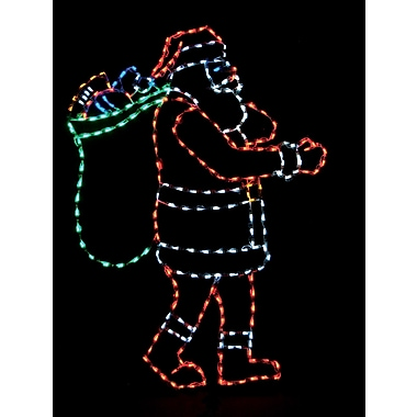 Brite Ideas Santa w/ Bag LED Light