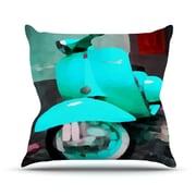 KESS InHouse Vespa I Outdoor Throw Pillow; 14'' H x 20'' W x 3'' D