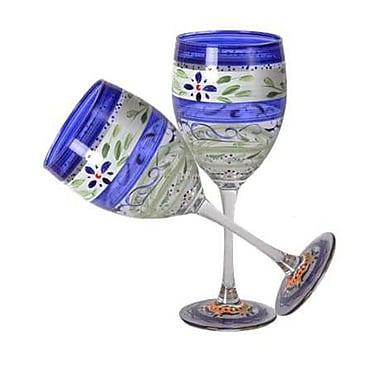 Golden Hill Studio Floral Wine Glass (Set of 2)