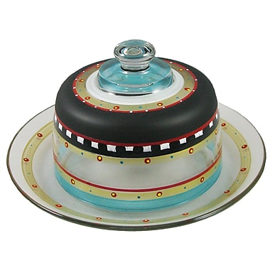 Golden Hill Studio Mosaic Chalk Cheese Cake Stand