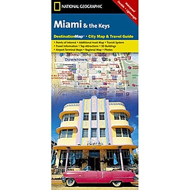Universal Map Miami and the Keys Florida Destination City Map and Guide