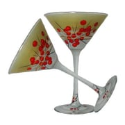 Golden Hill Studio Berries 'n Branches Martini Glass (Set of 2)