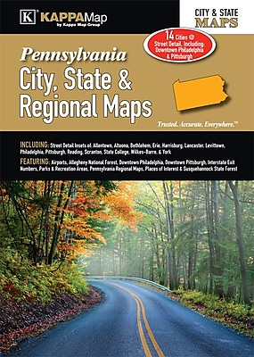 Universal Map Pennsylvania City, State and Regional Map