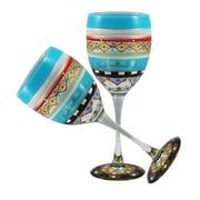 Golden Hill Studio Mosaic Carnival Wine Glass (Set of 2)