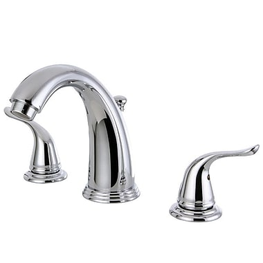 Kingston Brass Yosemite Double Handle Widespread Bathroom Faucet; Polished Chrome